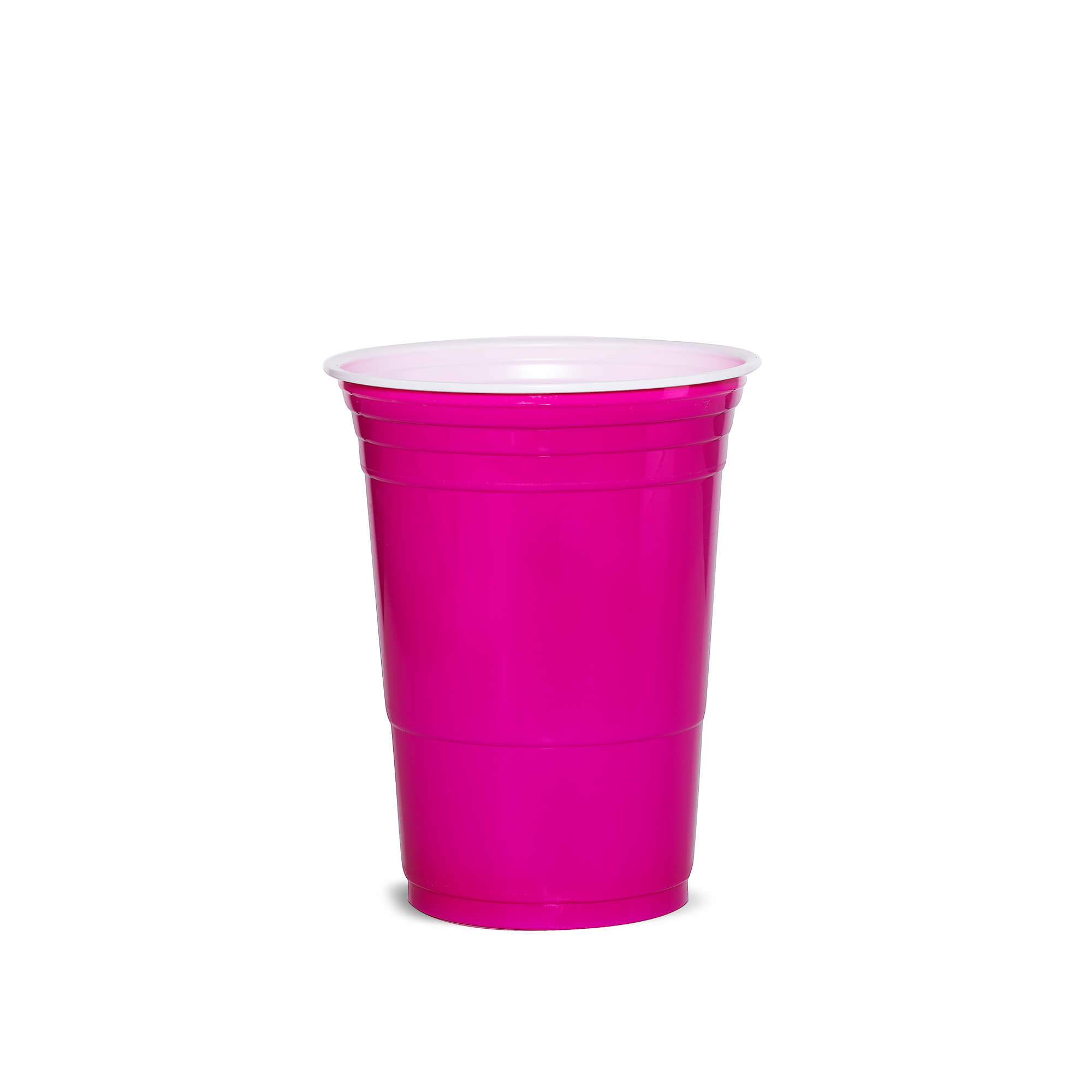 pink plastic cup