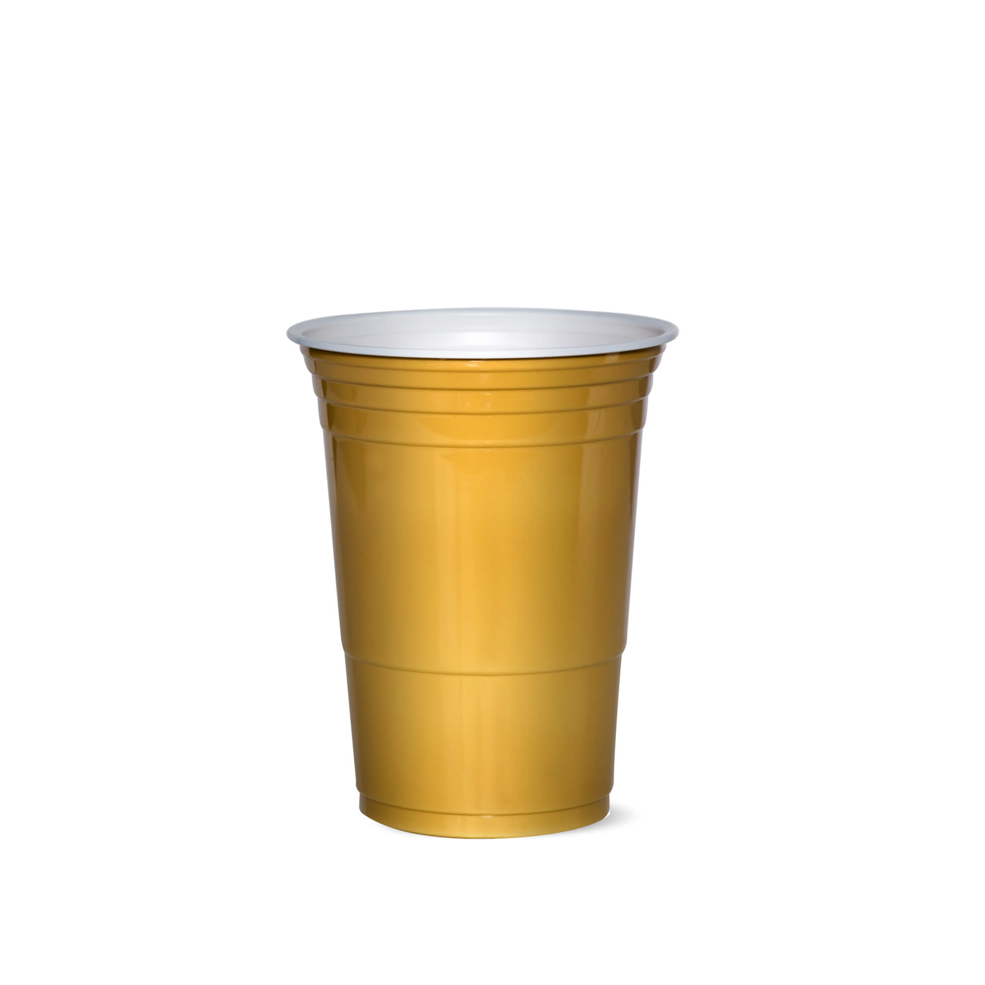 golden plastic cup