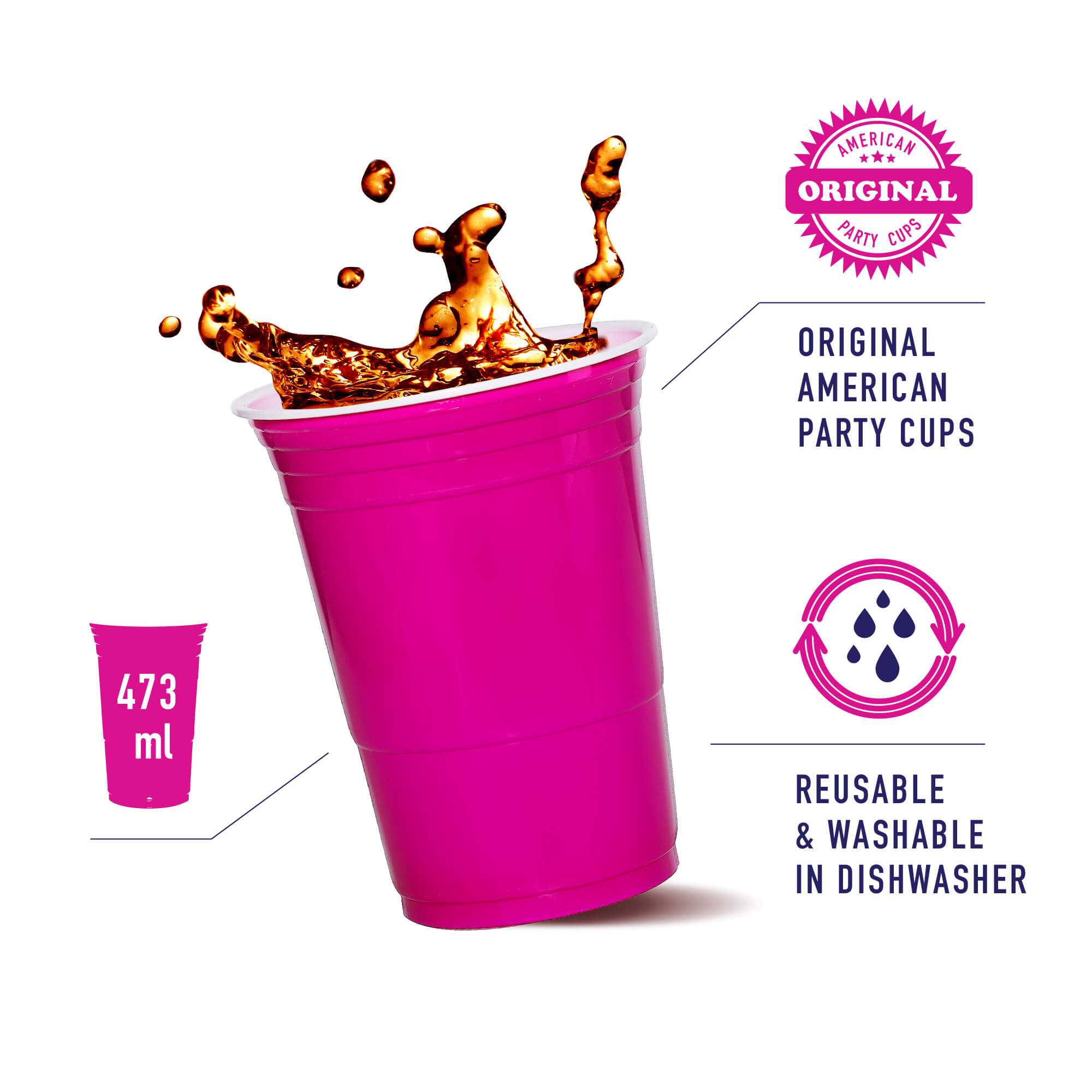 full pink plastic cup