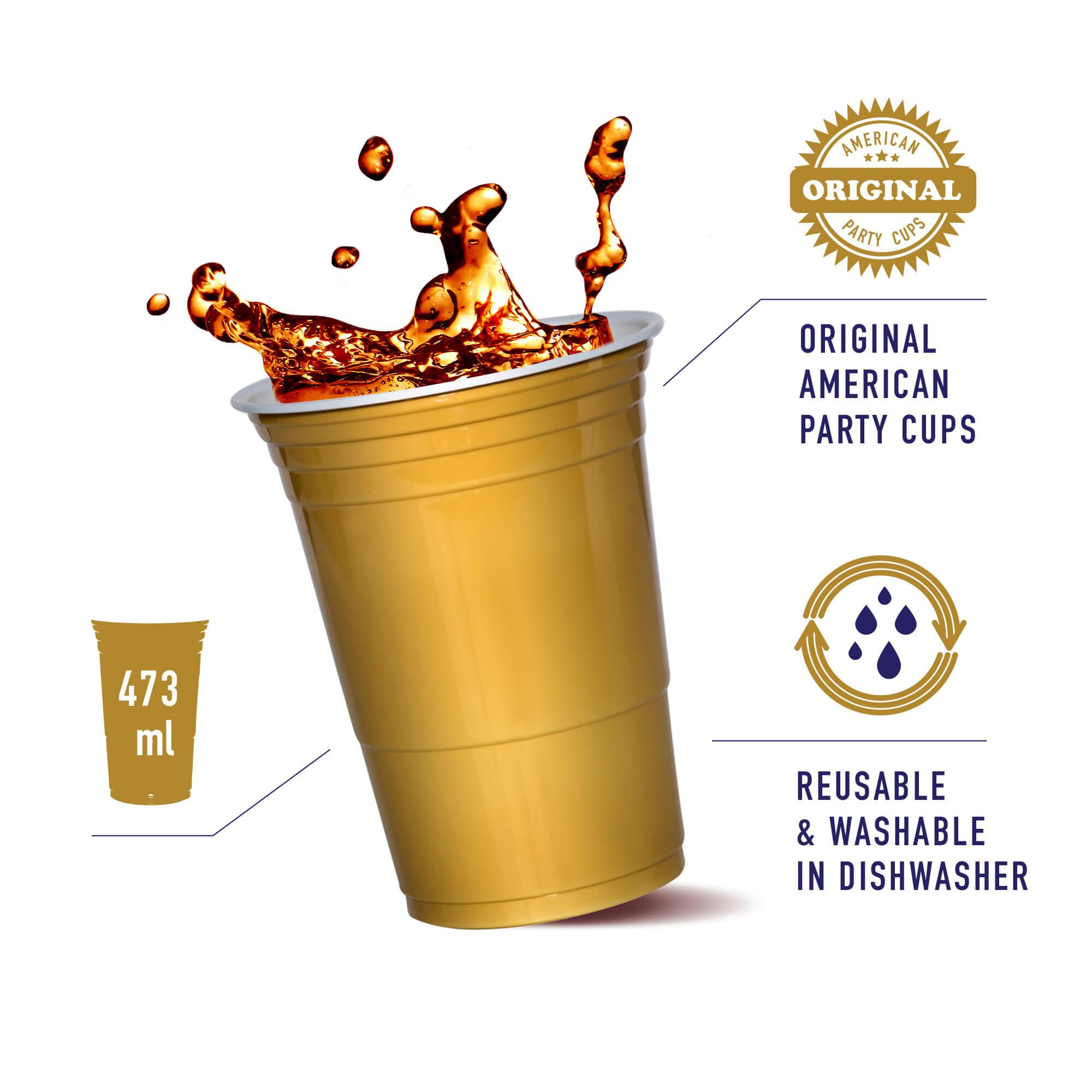 buy golden plastic cup