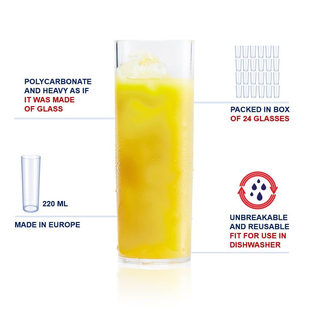plastic longdrink cups