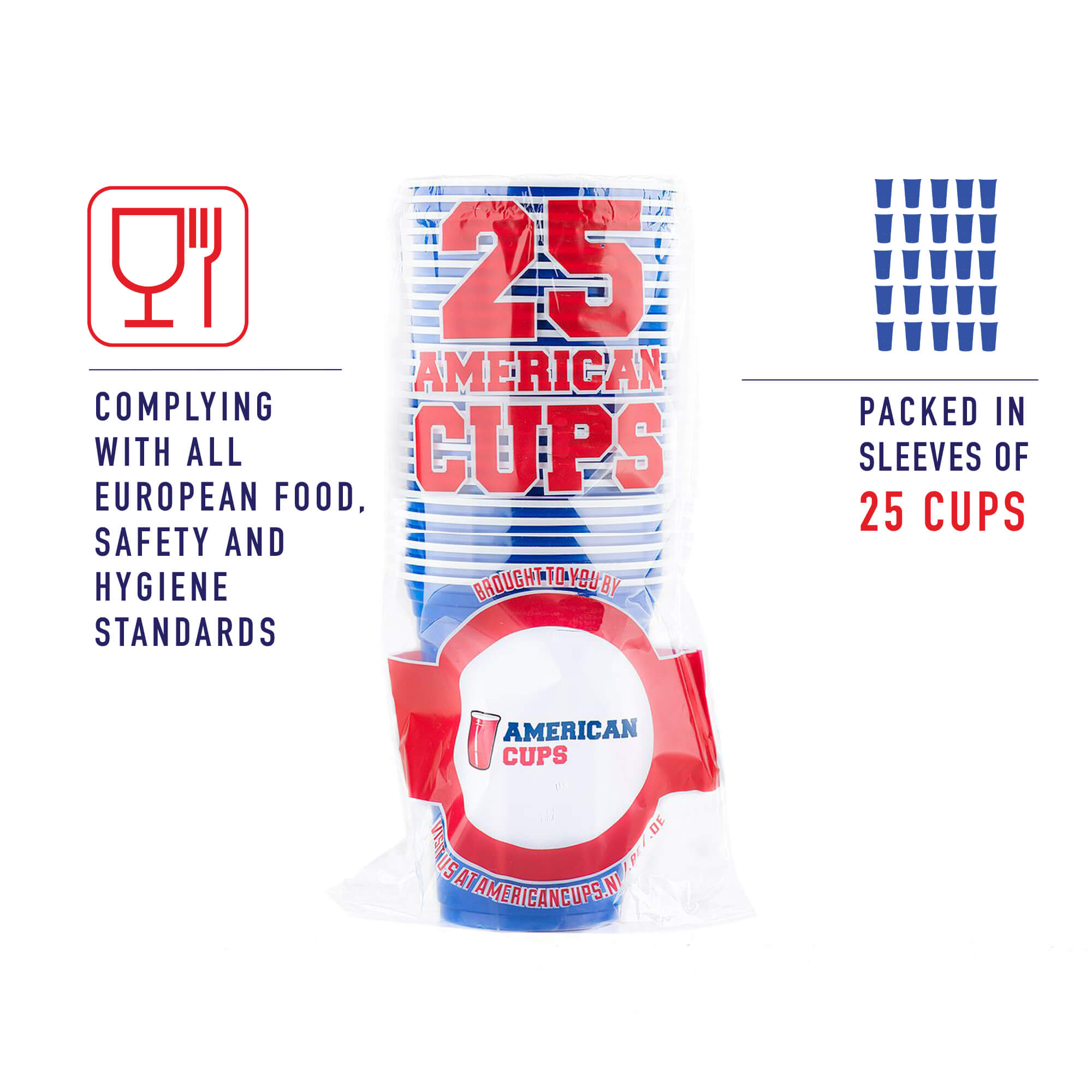 blue plastic cup pack
