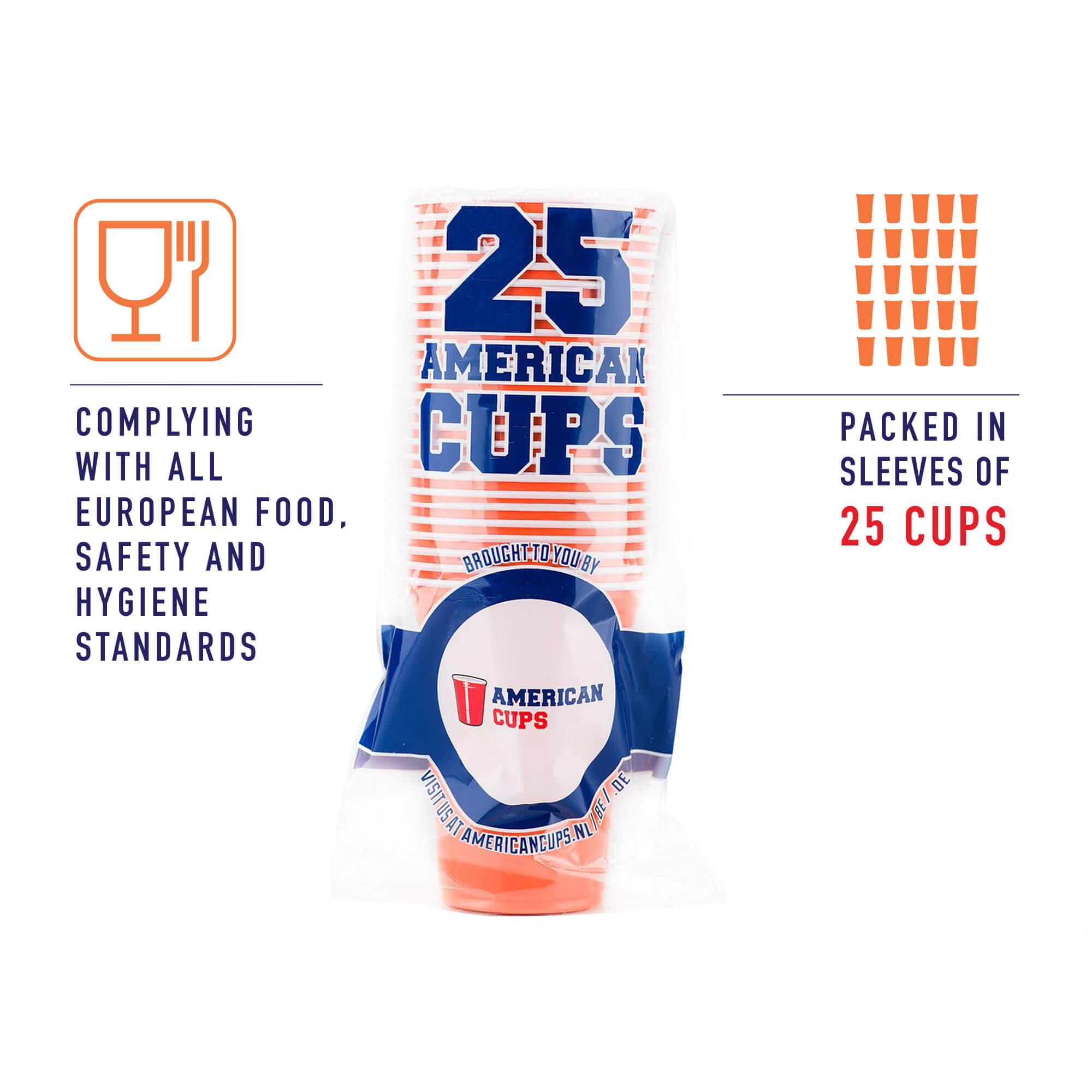 orange plastic cups pack