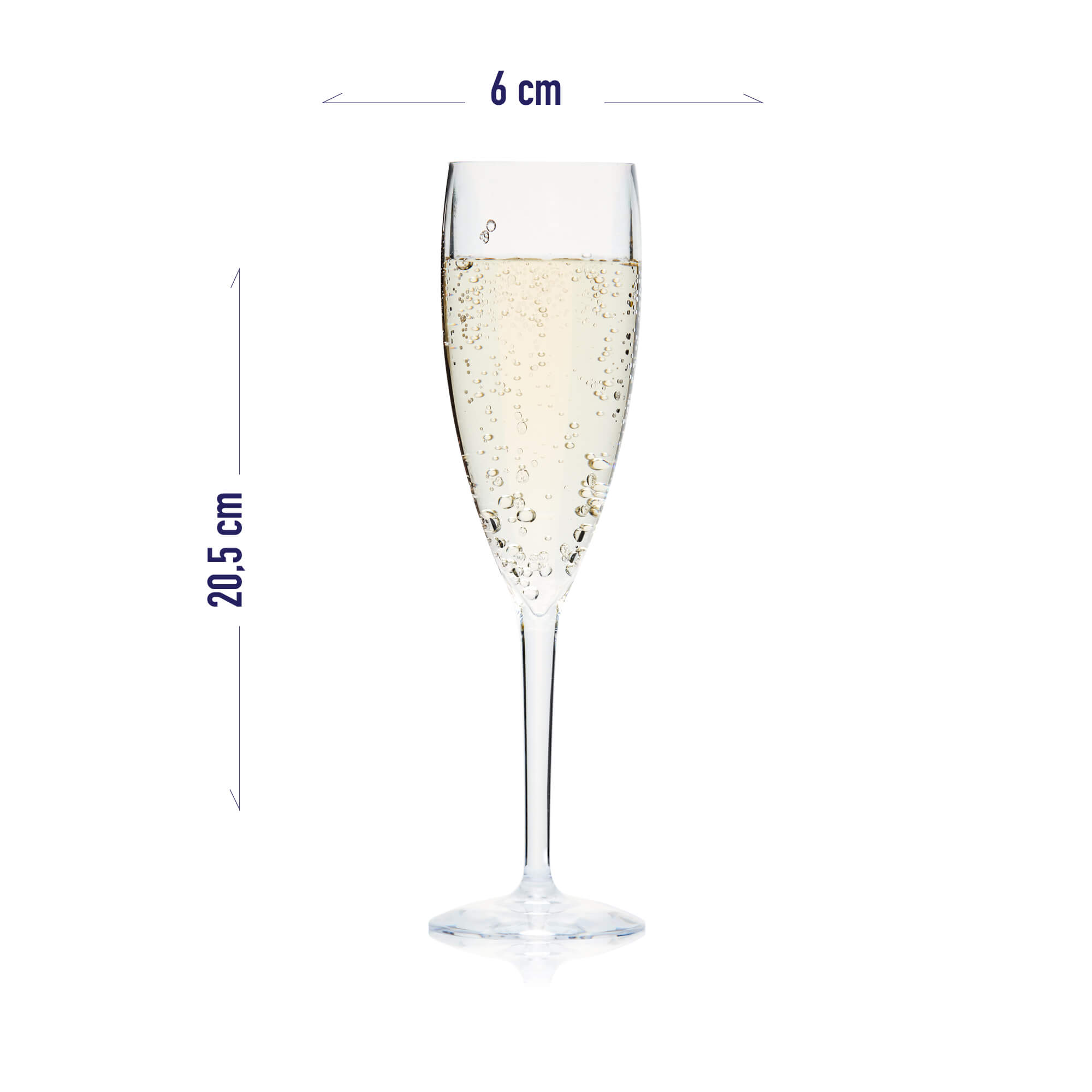recyclable champagne cup