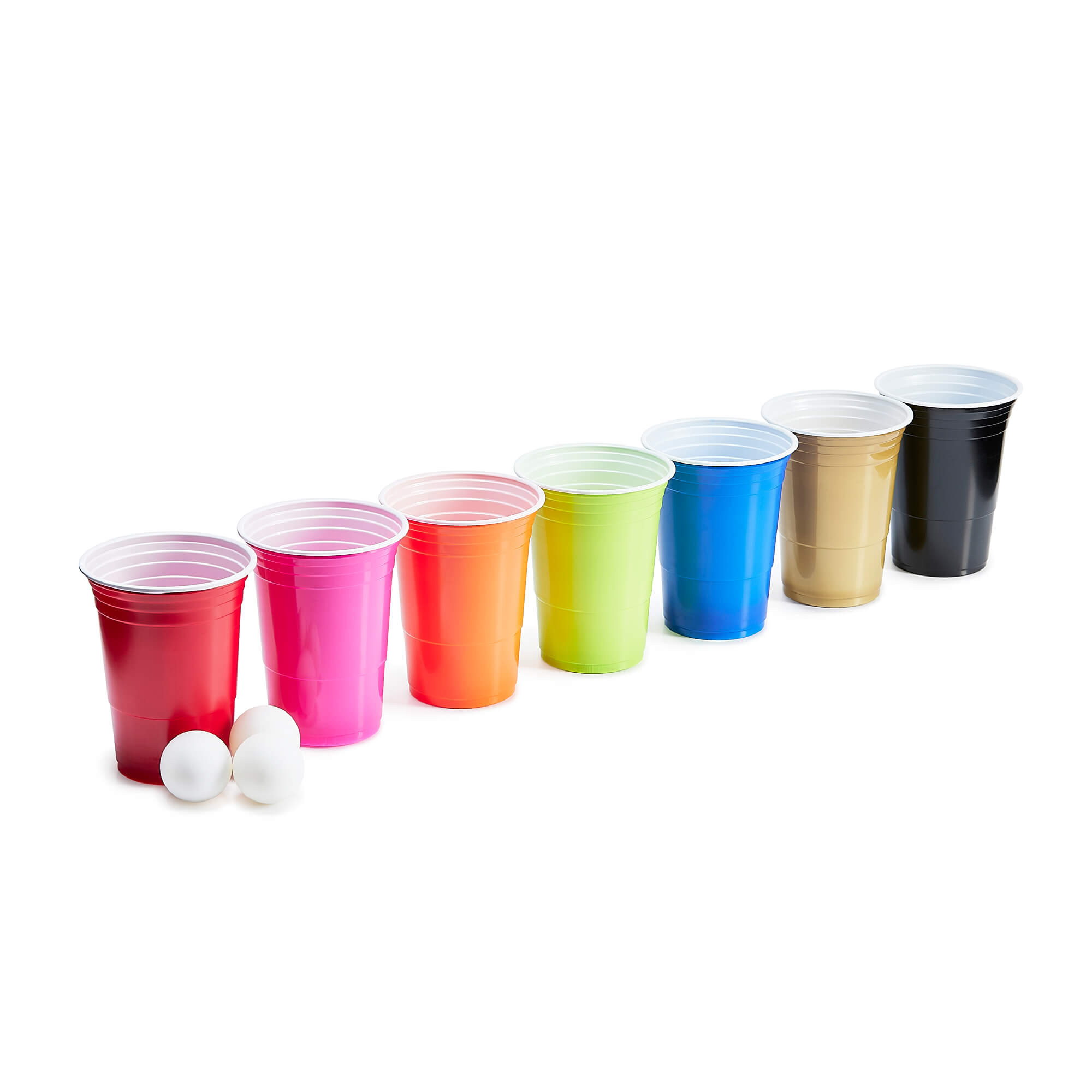 colored beer drinking game cups