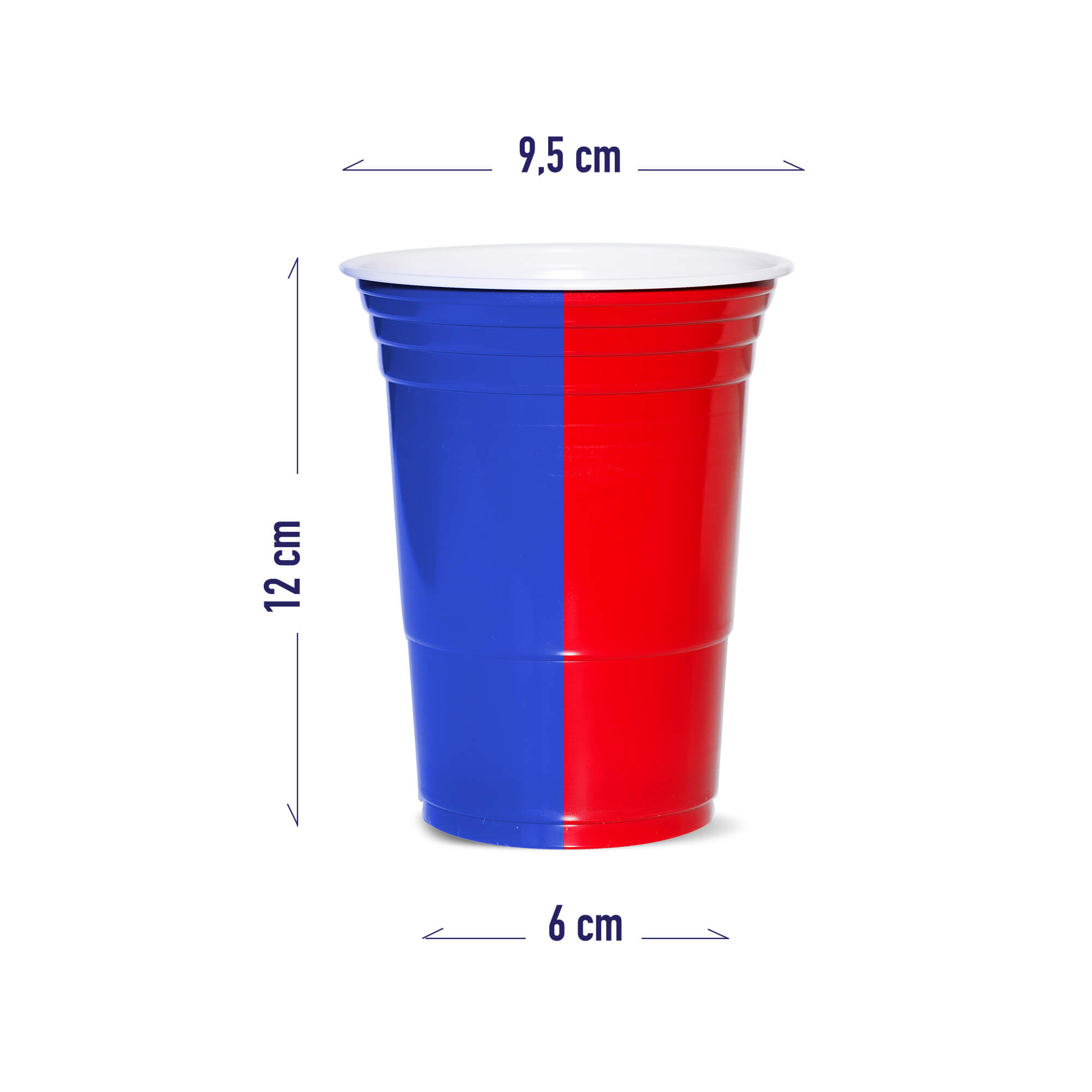 recycable blue cups