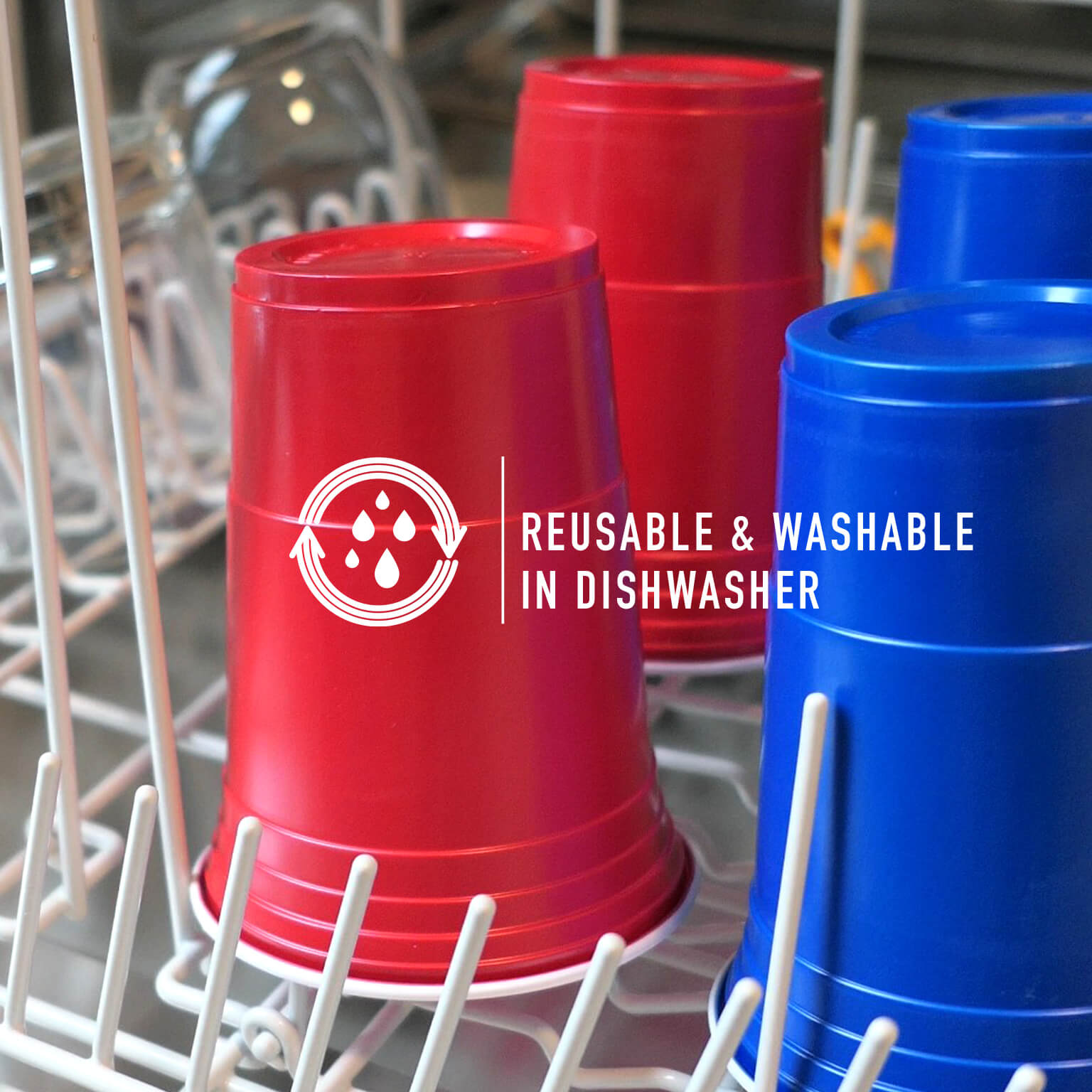 green washable cups