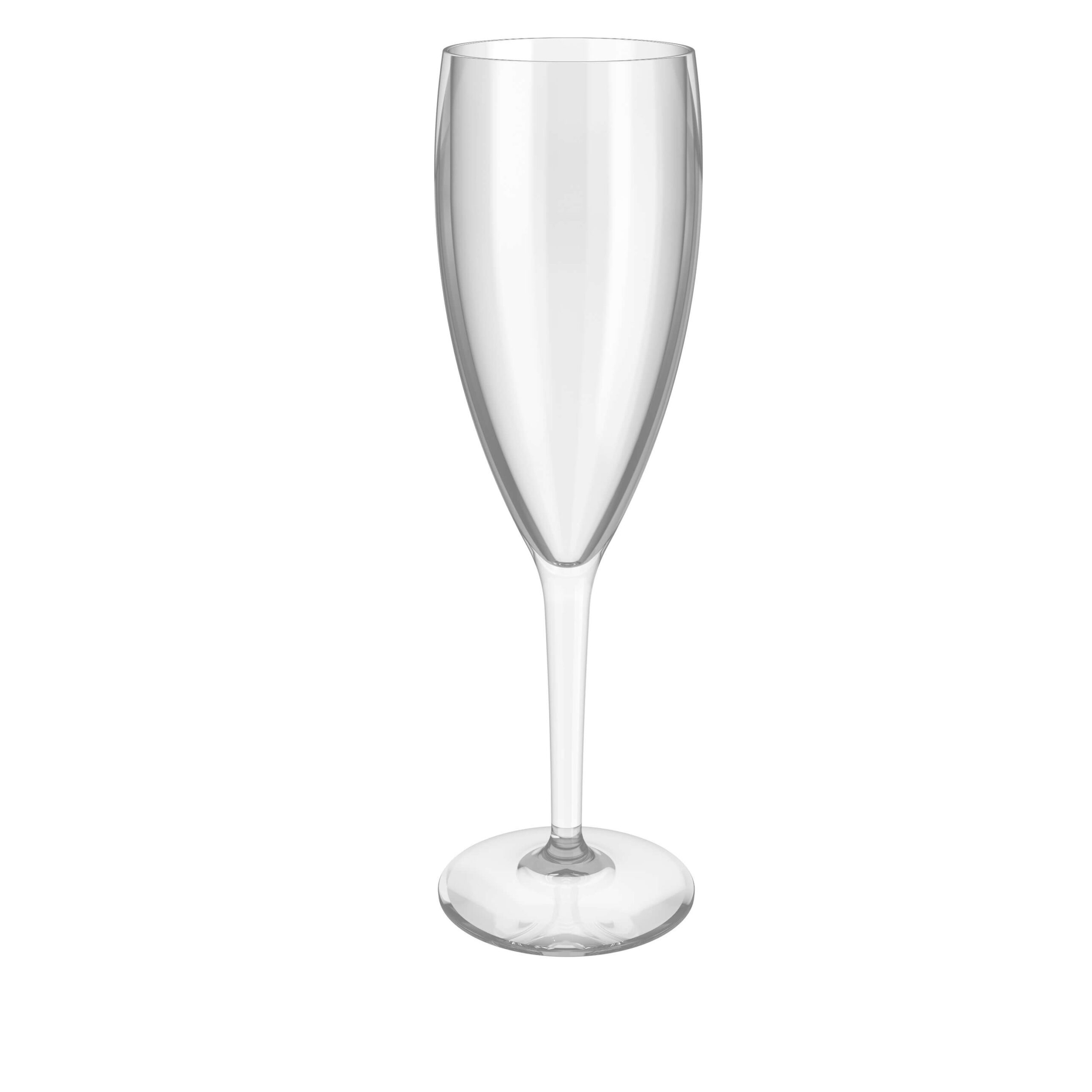 empty champagne cup