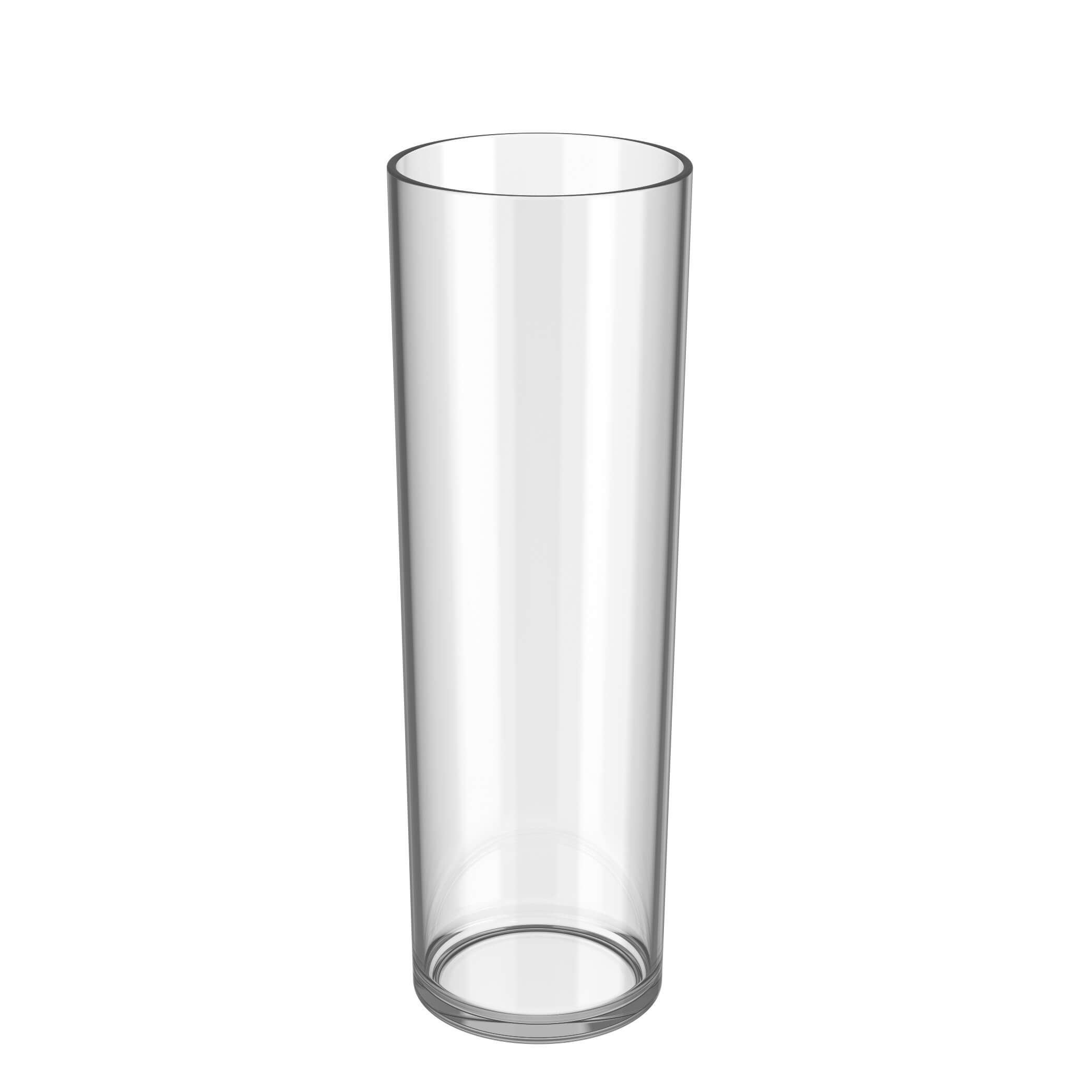 empty plastic long drink cup